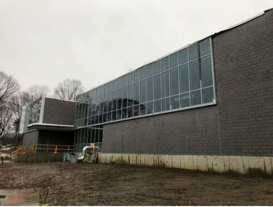 The north façade of the new New Lebanon School building as of Dec. 29, 2018. Photo: Contributed /