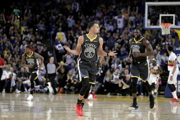 54031cd9d0d4 1of4Stephen Curry (30) celebrates a three pointer in the second half as the  Golden State Warriors played the New Orleans Pelicans at Oracle Arena in  Oakland ...