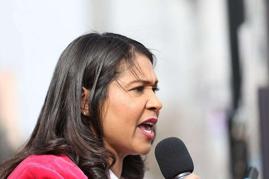 San Francisco Mayor London Breed delivers a speech during the Women's March at Civic Center Plaza in San Francisco, Calif., on Saturday, January 19, 2019.  Photo: Yalonda M James, The Chronicle