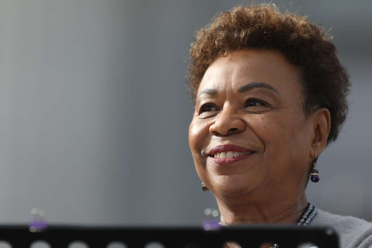 Congresswoman Barbara Lee delivers a speech during the Women's March at Civic Center Plaza in San Francisco, Calif., on Saturday, January 19, 2019. The event brought thousands of people to the city for a march aimed at push back against United States President Donald J. Trump and his policies and to remind people of the political power of women.