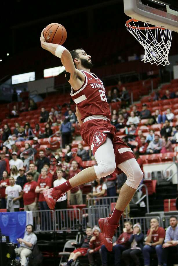 Stanford center Josh Sharma goes up for a dunk during the second half of an NCAA college basketball game against Stanford in Pullman, Wash., Saturday, Jan. 19, 2019. Stanford won 78-66. (AP Photo/Young Kwak) Photo: Young Kwak / Associated Press