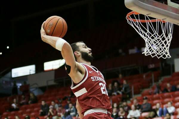 Stanford center Josh Sharma goes up for a dunk during the second half of an NCAA college basketball game against Stanford in Pullman, Wash., Saturday, Jan. 19, 2019. Stanford won 78-66. (AP Photo/Young Kwak)