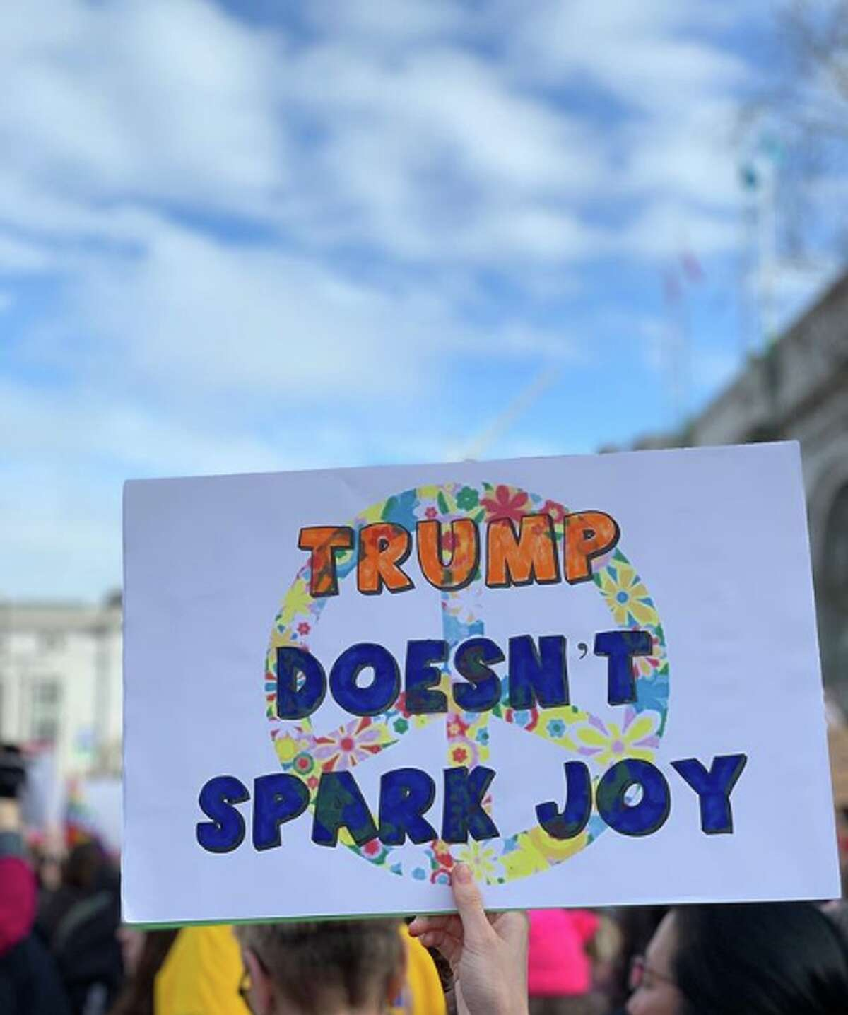 Participants in the Women's March in San Francisco came up with creative signs and art for Saturday.
