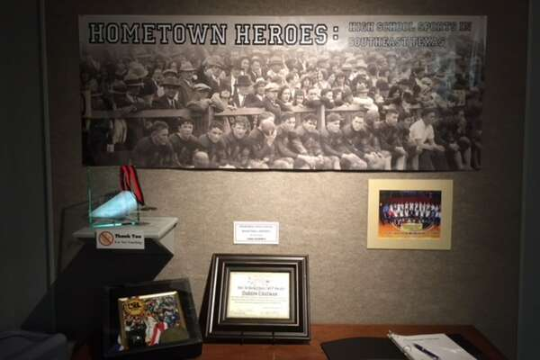 The Museum of the Gulf Coast opened up its Hometown Heroes exhibit on Saturday afternoon, with this display greeting visitors as they walk in.