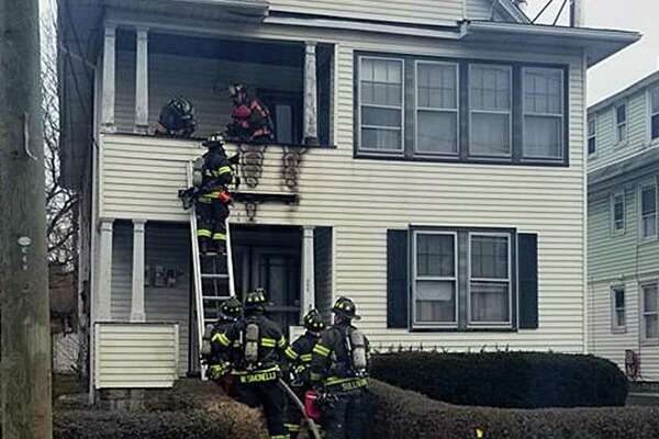 Around 12:40 p.m. on Jan. 19, 2019, Danbury Police Officer Emilio Masella noticed a fire on a second floor porch in the 100 block of Rose Hill Avenue in Danbury, Conn., while on patrol. He immediately called in the fire department.