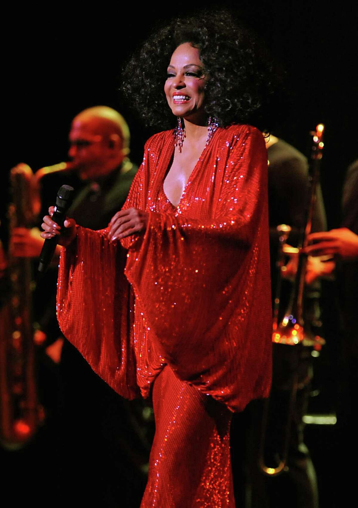 Pop legend Diana Ross sings during a concert at the Palace Theatre in Albany, NY on September 15, 2010. (Lori Van Buren / Times Union)