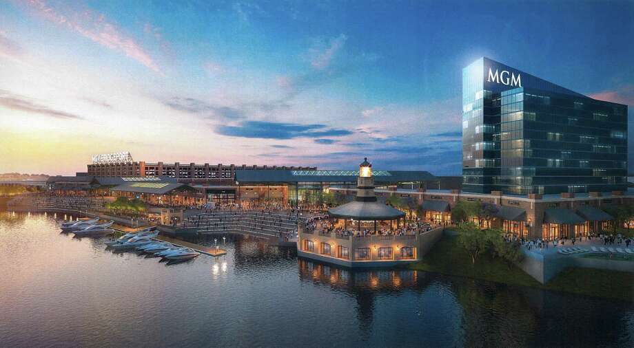 Conceptual rendering of MGM Bridgeport Resort Casino & Entertainment District. Photo: Contributed Rendering / Connecticut Post Contributed