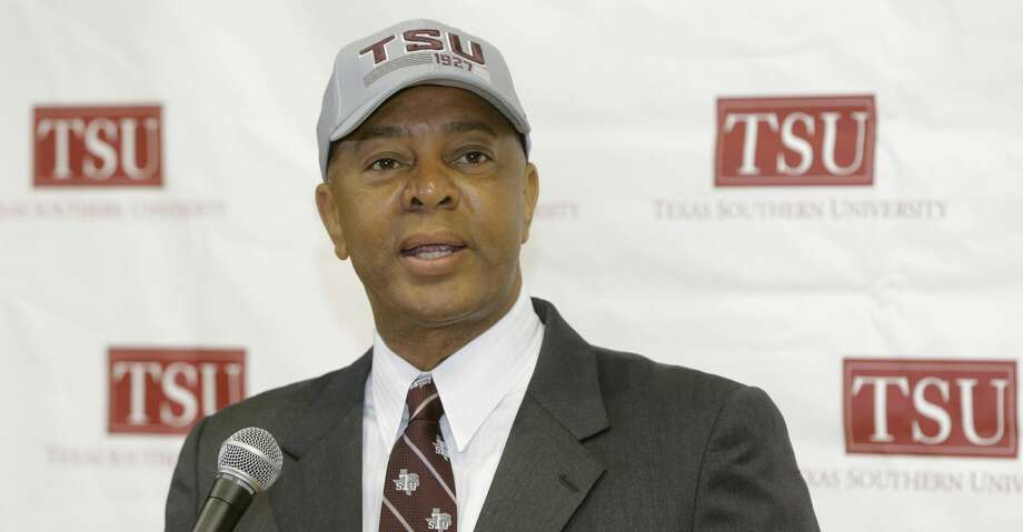 Johnny Jones, new head basketball coach, speaks during press conference Texas Southern University Wednesday, June 27, 2018, in Houston.  ( Melissa Phillip / Houston Chronicle ) Photo: Melissa Phillip/Houston Chronicle