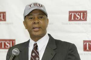 Johnny Jones, new head basketball coach, speaks during press conference Texas Southern University Wednesday, June 27, 2018, in Houston.  ( Melissa Phillip / Houston Chronicle )