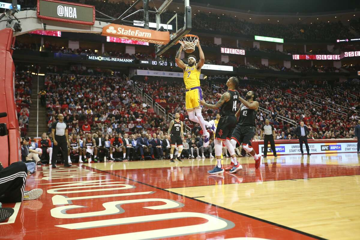 Houston Rockets host the LA Lakers at the Toyota Center on Saturday, Jan. 19, 2019 in Houston. Rockets won the game in overtime 138-134.
