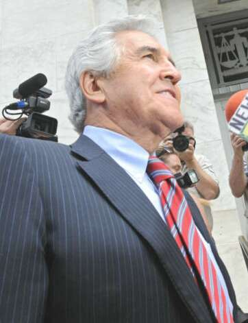 Former state Senate Majority Leader Joseph L. Bruno enters the Federal  Court House for his sentencing in Albany, NY on May 6, 2010.  (Lori Van Buren / Times Union)