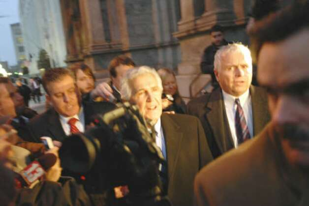 Sen. Joseph L. Bruno exits the James T. Foley U.S. Courthouse in Albany December 2009 after being found guilty of two felony charges brought against him in a federal corruption case. Bruno was acquitted on 5 other charges. (Philip Kamrass / Times Union)