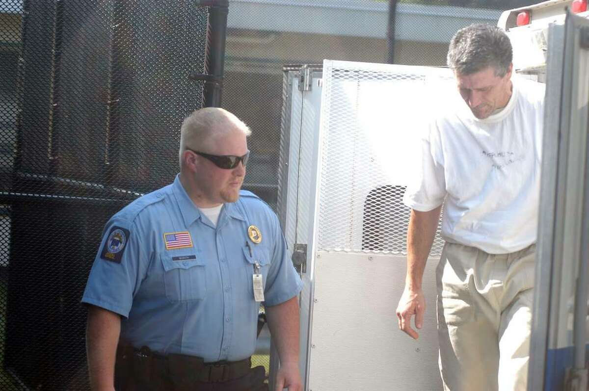 James O'Neill, the Bethel man accused in the hit-and-run death of Danbury police officer Donald Hassiak, was arraigned Wednesday at the state Superior Court in Bantam. Photo taken July 21, 2010.