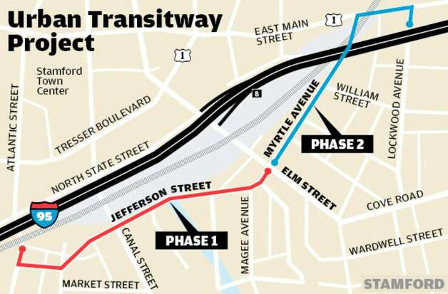 Stamford's Urban Transitway Project. Photo: File Photo / Stamford Advocate File Photo