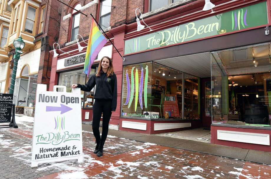 The Dilly Bean's owner Abigail Rockmacher stands for a portrait outside of her store Friday, Jan. 18, 2019 at The Dilly Bean in Schenectady, N.Y. (Phoebe Sheehan/Times Union) Photo: Phoebe Sheehan, Albany Times Union / 40045981A
