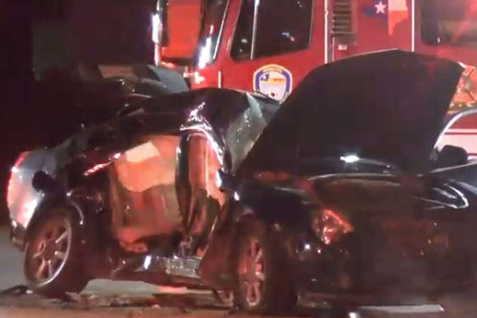 Four people - including a 5-year-old girl - were hospitalized after an overnight wreck on Harrisburg and 75th.