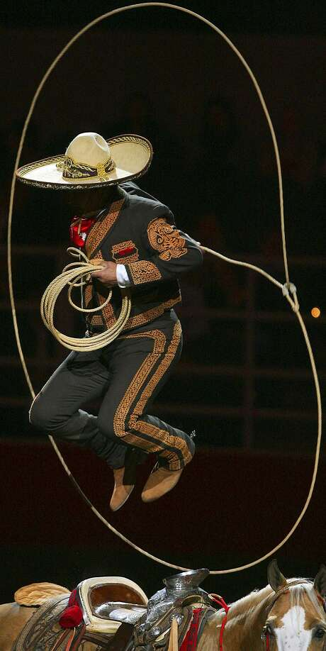 "Charro Gerardo ""Jerry"" Diaz, from New Braunfels performs during the 58th Annual San Antonio Stock Show & Rodeo."