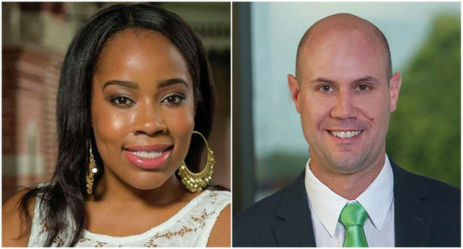 SIUE alumni featured on the BizJournal's 40 Under 40 Class of 2019 list are Lissa Johnson-Lewis, left, and Ryan Perryman. Photo: For The Telegraph