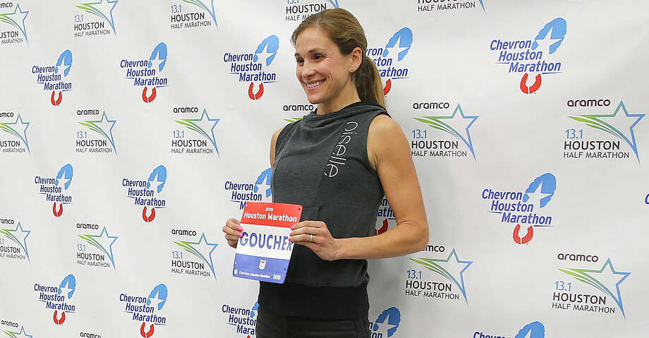 Elite marathon runner Kara Goucher poses for a photo after a press conference for the Chevron Houston Marathon at the George R. Brown Center on Friday, Jan. 18, 2019 in Houston. Photo: Elizabeth Conley/Staff Photographer / © 2018 Houston Chronicle