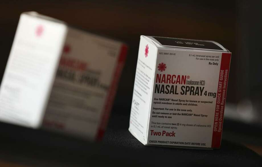 Narcan, the brand name for naloxone, was administered in Chico after 13 suspected fentanyl overdoses at a house party. Photo: Lea Suzuki / The Chronicle 2018 / ONLINE_YES