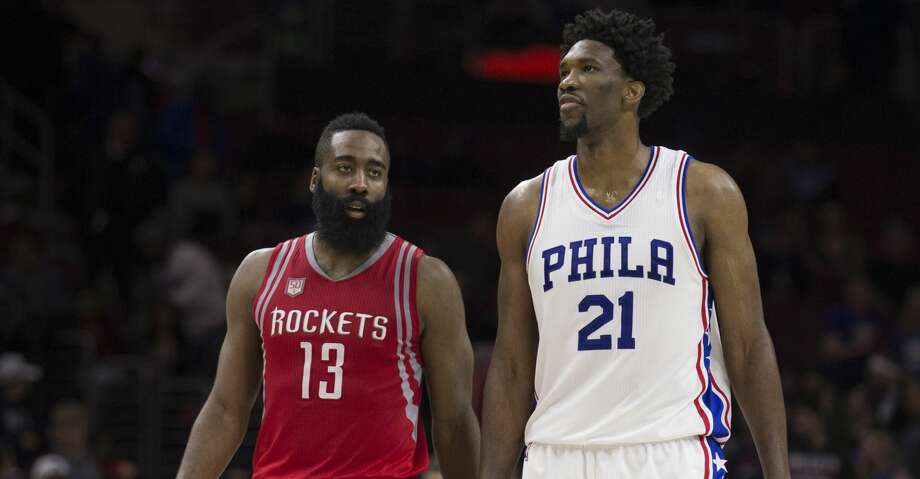 PHOTOS: Rockets game-by-game James Harden #13 of the Houston Rockets talks to Joel Embiid #21 of the Philadelphia 76ers at the Wells Fargo Center on January 27, 2017 in Philadelphia, Pennsylvania. (Photo by Mitchell Leff/Getty Images) Browse through the photos to see how the Rockets have fared in each game this season. Photo: Mitchell Leff/Getty Images