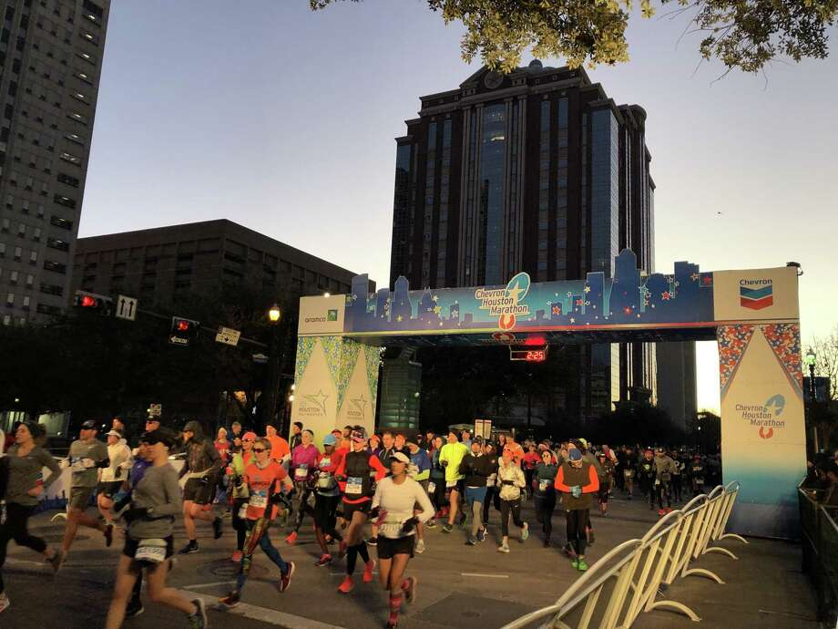 6 a.m. is the race start time on Sunday, Jan. 19, 2020 Photo: Brett Coomer,  Houston Chronicle / Staff Photographer / © 2019 Houston Chronicle