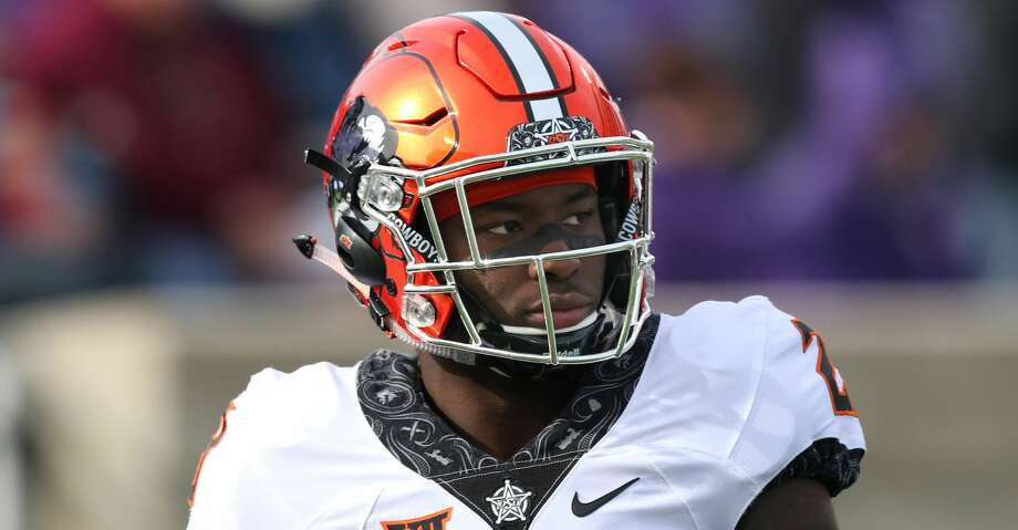 MANHATTAN, KS - OCTOBER 13: Oklahoma State Cowboys safety Thabo Mwaniki (28) before a Big 12 football game between the Oklahoma State Cowboys and Kansas State Wildcats on October 13, 2018 at Bill Snyder Family Stadium in Manhattan, KS.  (Photo by Scott Winters/Icon Sportswire via Getty Images) Photo: Icon Sportswire/Icon Sportswire Via Getty Images