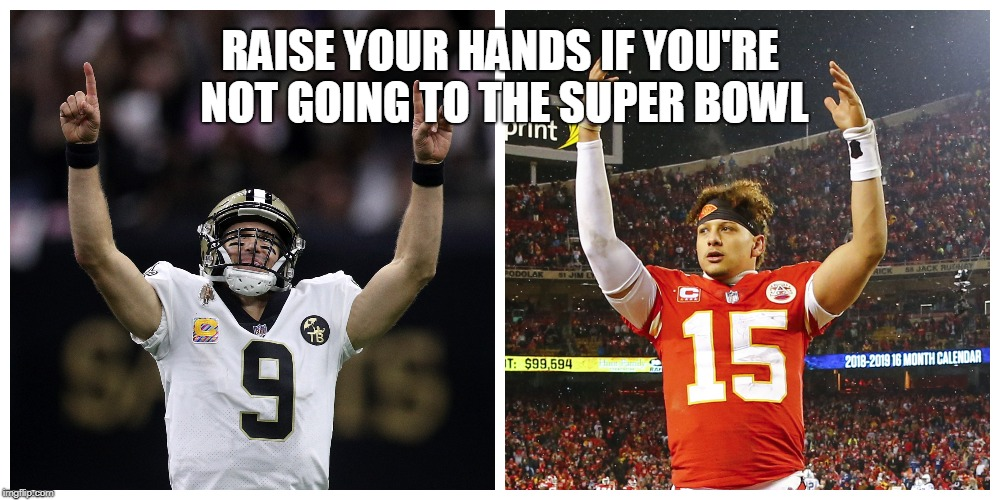 Memes mock gut-wrenching playoff losses by Saints, Chiefs