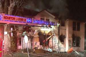 A home caught fire in the 7800 block of North Main on Monday, Jan. 21, 2019.