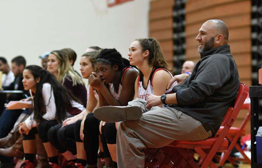 Tomball Head Coach Doug Barncastle, right, watches his team work against Caney Creek during their District 20-5A matchup at THS on Jan. 15, 2019. Photo: Jerry Baker, Houston Chronicle / Contributor / Houston Chronicle