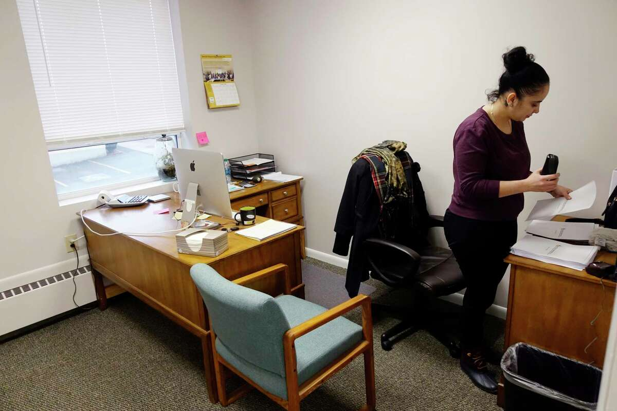 Melissa Roundtree, executive assistant at Second Chance Opportunities, works in her office at the organizations new office space on Colvin Ave. on Wednesday, Jan. 9, 2019, in Albany, N.Y. (Paul Buckowski/Times Union)