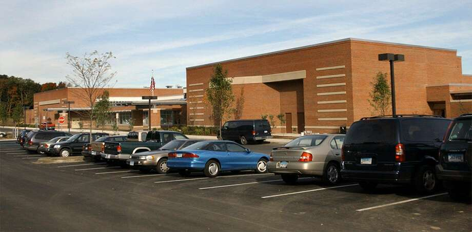 Scotts Ridge Middle School in Ridgefield. Scotts Ridge was just one of the schools toured for infrastructure problems, which include a crack running through the school. Photo: File Photo\Carol Kaliff / File Photo / The News-Times File Photo