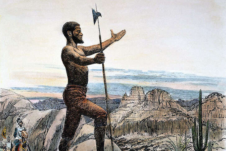Estevanico (c.1500–1539), a Moroccan sold into slavery, became one of the first native Africans to explore the present-day continental U.S.