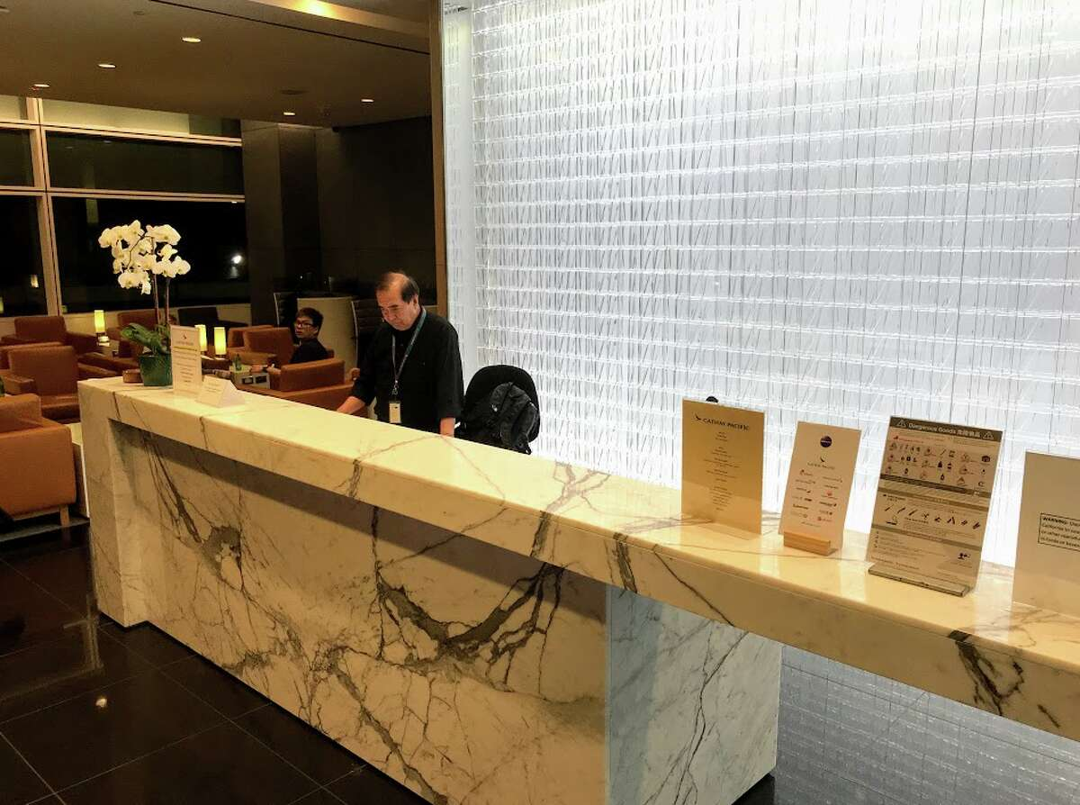 At Cathay Pacific's San Francisco Lounge, British Airways business class passengers, among many other airlines, are now welcome