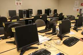 The computer room at City College of San Francisco at Batmale Hall in San Francisco, Calif., on Thursday, January 12, 2012. A computer virus which has been on the San Francisco City College servers for the past 10 years may have had the personal information of 40k to 100k students and faculty compromised.