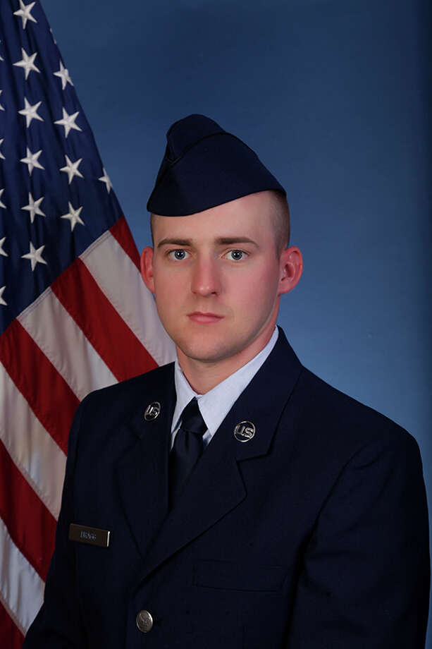 U.S. Air Force Airman 1st Class Michael J. Bragg graduated from basic military training at Joint Base San Antonio-Lackland in San Antonio. Photo: Courtesy Photo