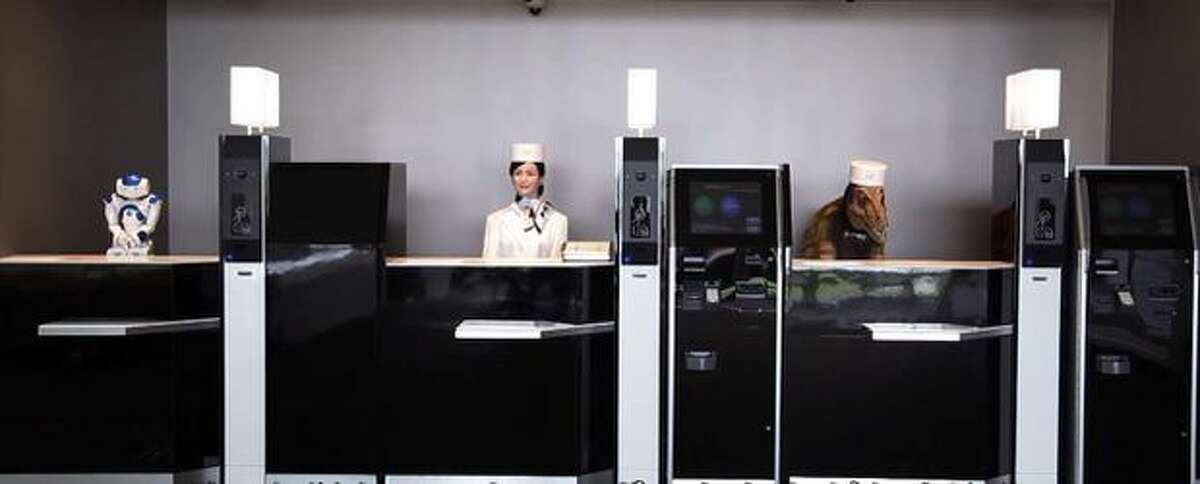 Many of the unusual robots working at Japan's Henn na Hotel are now out of work.