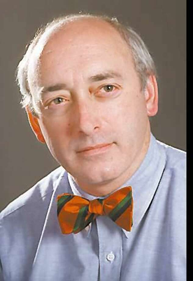 Joe Pisani wearing a selection from his bowtie collection. Photo: Bob Luckey / GT