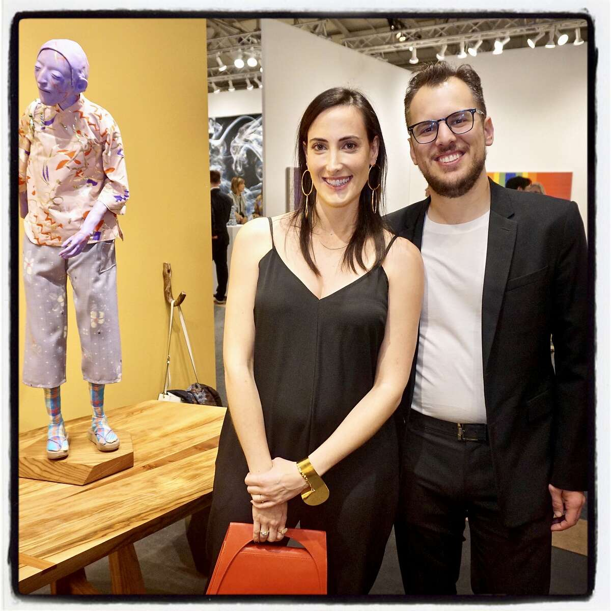 Collectors Kaitlyn Krieger and her husband, Instagram cofounder Mike Krieger, at FOG gala. Jan. 16, 2018.