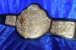 Custom wrestling belt for Darius Rucker by WildCat Belts.