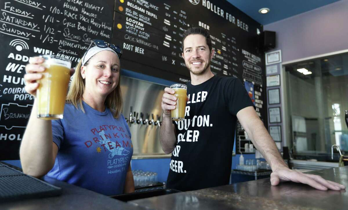 """Platypus head brewer Kerry Embertson and Holler Brewing owner John Holler have created a new beer called """"Won't You Be My Neighbor."""""""
