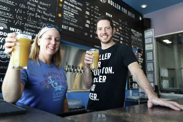 "Platypus head brewer Kerry Embertson and Holler Brewing owner John Holler have created a new beer called ""Won't You Be My Neighbor."""