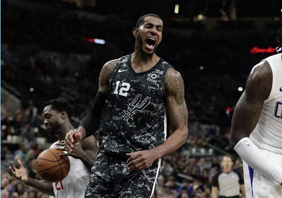 After some struggles in the season's first 17 games, Spurs forward LaMarcus Aldridge has built a case for his seventh All-Star appearance with averages of 21.1 points, 8.8 rebounds and 2.6 assists. Photo: Eric Gay / Associated Press / Copyright 2019 The Associated Press. All rights reserved.