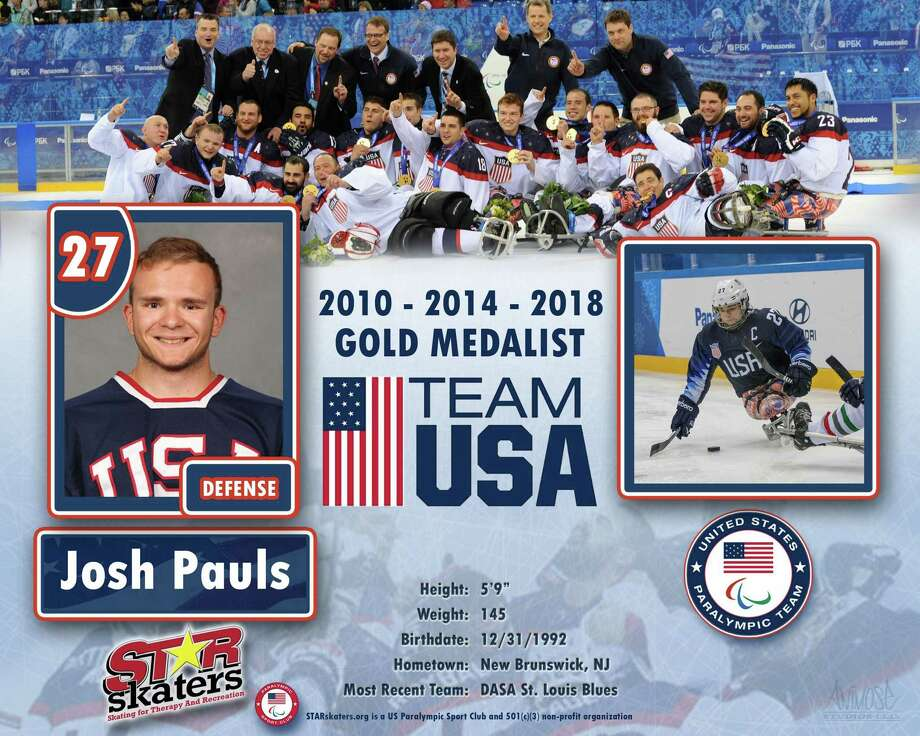 Josh Pauls will be playing in a sled hockey scrimmage game with members of Houston's sled hockey team from 3 to 5 p.m. Friday, Jan. 25, at the Ice Rink at Discovery Green. Members of the public are welcome to join Pauls on the ice after 4 p.m. Photo: Courtesy Photo