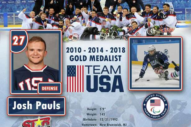 Josh Paulswill be playing in a sled hockey scrimmage game with members of Houston's sled hockey team from 3 to 5 p.m. Friday, Jan. 25, at the Ice Rink at Discovery Green. Members of the public are welcome to join Pauls on the ice after 4 p.m.