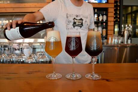 Alvarado Street Brewery's Yeast of Eden taproom in Carmel-by-the-Sea, California on Friday, January 11, 2018. Photo: Alyssa Pereira