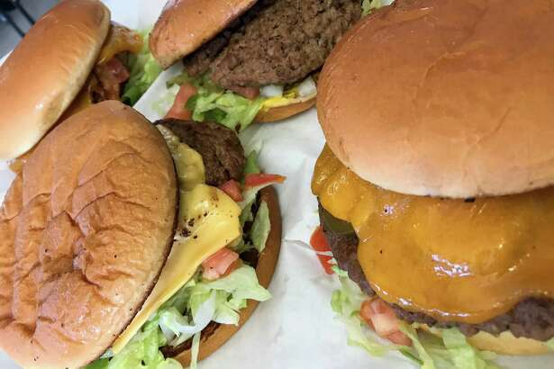 A selection of burgers from Diana's Burgers