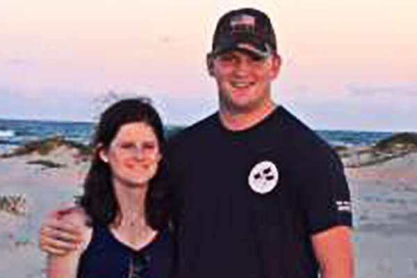 Kyle Loveday (right) went missing Friday evening after meeting friends at a BJ's Restaurant & Brewhouse at U.S. 281 and TPC Parkway. Authorities believe he lost control of his car while driving home and plunged about 20 to 30 feet into a drainage ditch in the 22800 block of Bulverde Road.