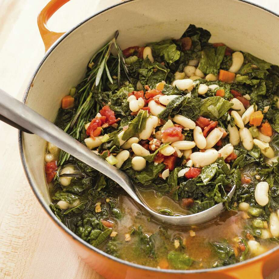 "This undated photo provided by America's Test Kitchen in January 2019 shows Tuscan White Bean Soup in Brookline, Mass. This recipe appears in the cookbook ""Tasting Italy."" (Carl Tremblay/America's Test Kitchen via AP) Photo: Carl Tremblay / Associated Press / 2014, Carl Tremblay Photography"