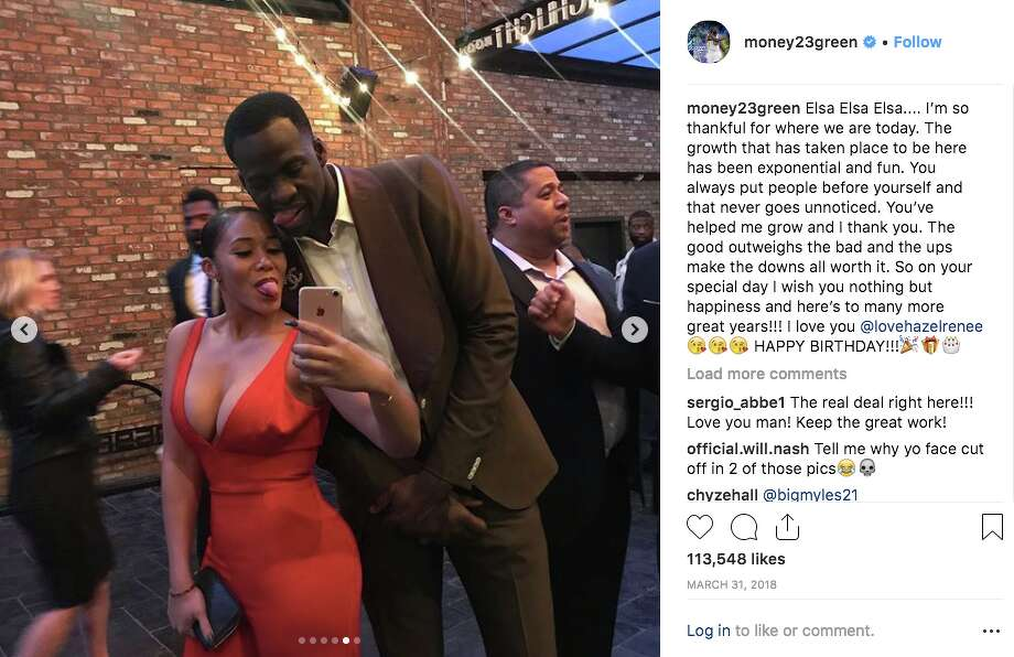 Hazel Renee and Draymond Green have been together since at least early 2018. Warriors coach Steve Kerr said they got engaged over the weekend of Jan. 19, 2019. Photo: Screenshot Via Draymond Green Instagram